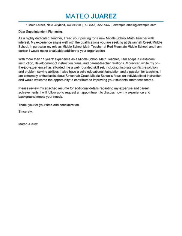 cover letter teaching job best teacher cover letter examples