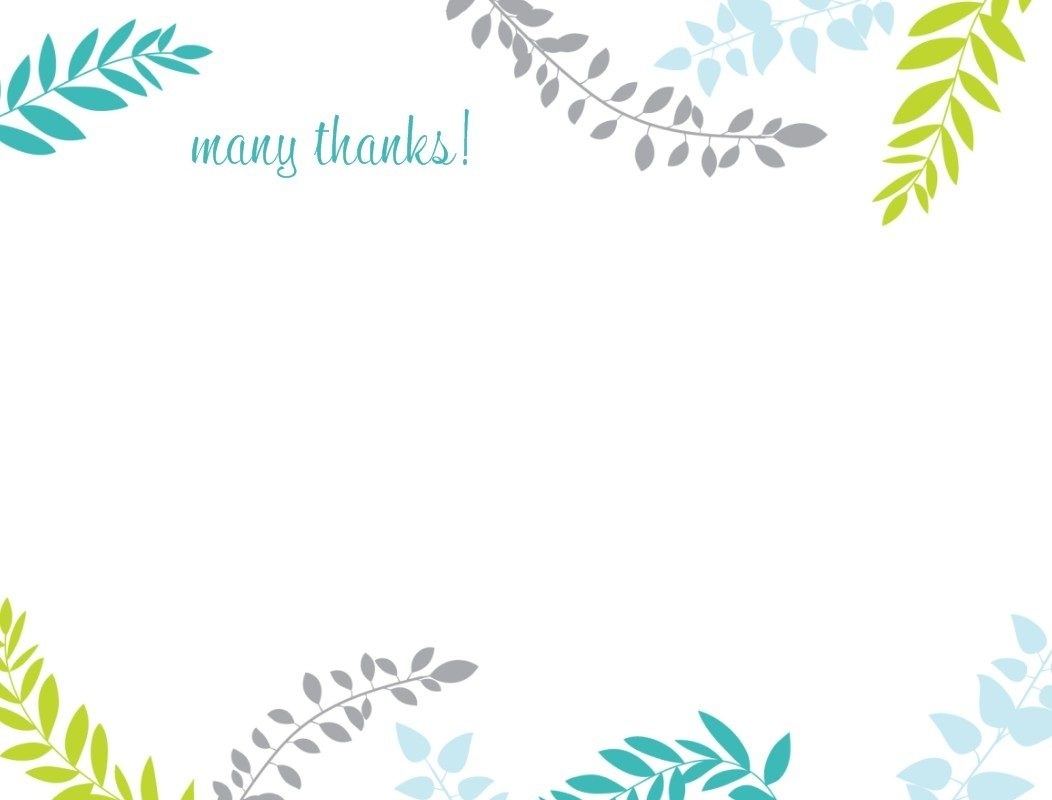 Thank you note template card collection templates for notes ideal