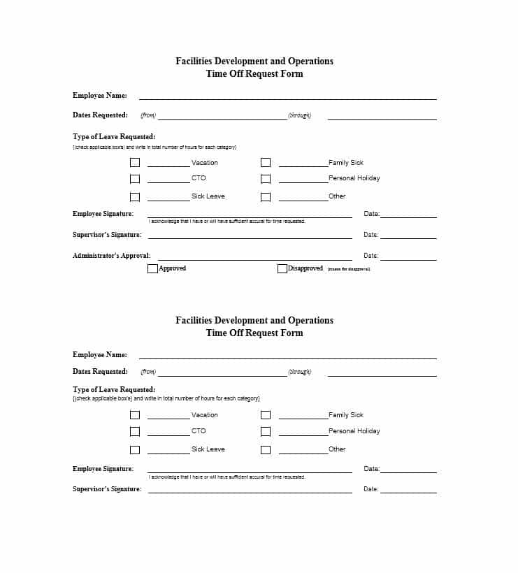 40+ Effective Time Off Request Forms & Templates Template Lab