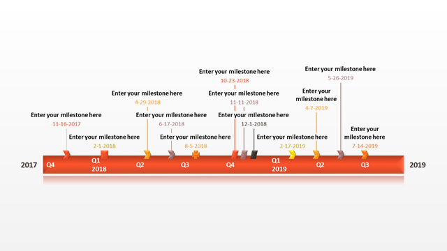 Office Timeline: Sample Timeline for PowerPoint Free Timeline