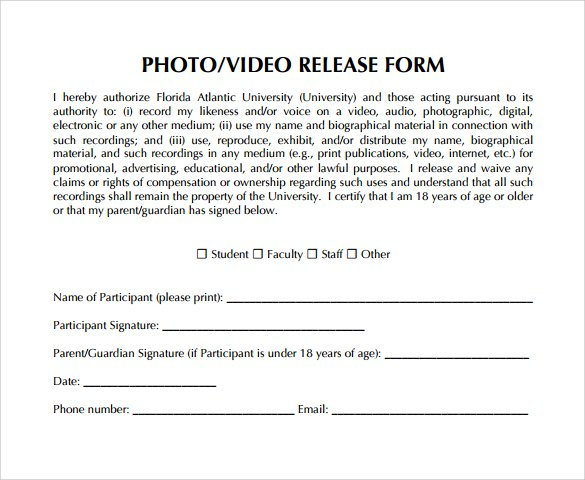 Fillable Online cde ca Video Release Form California Department
