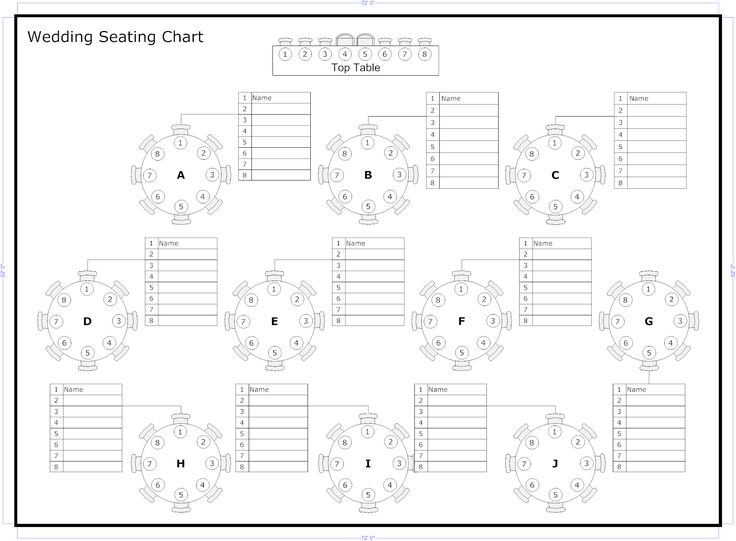wedding table chart template seating chart template wedding free
