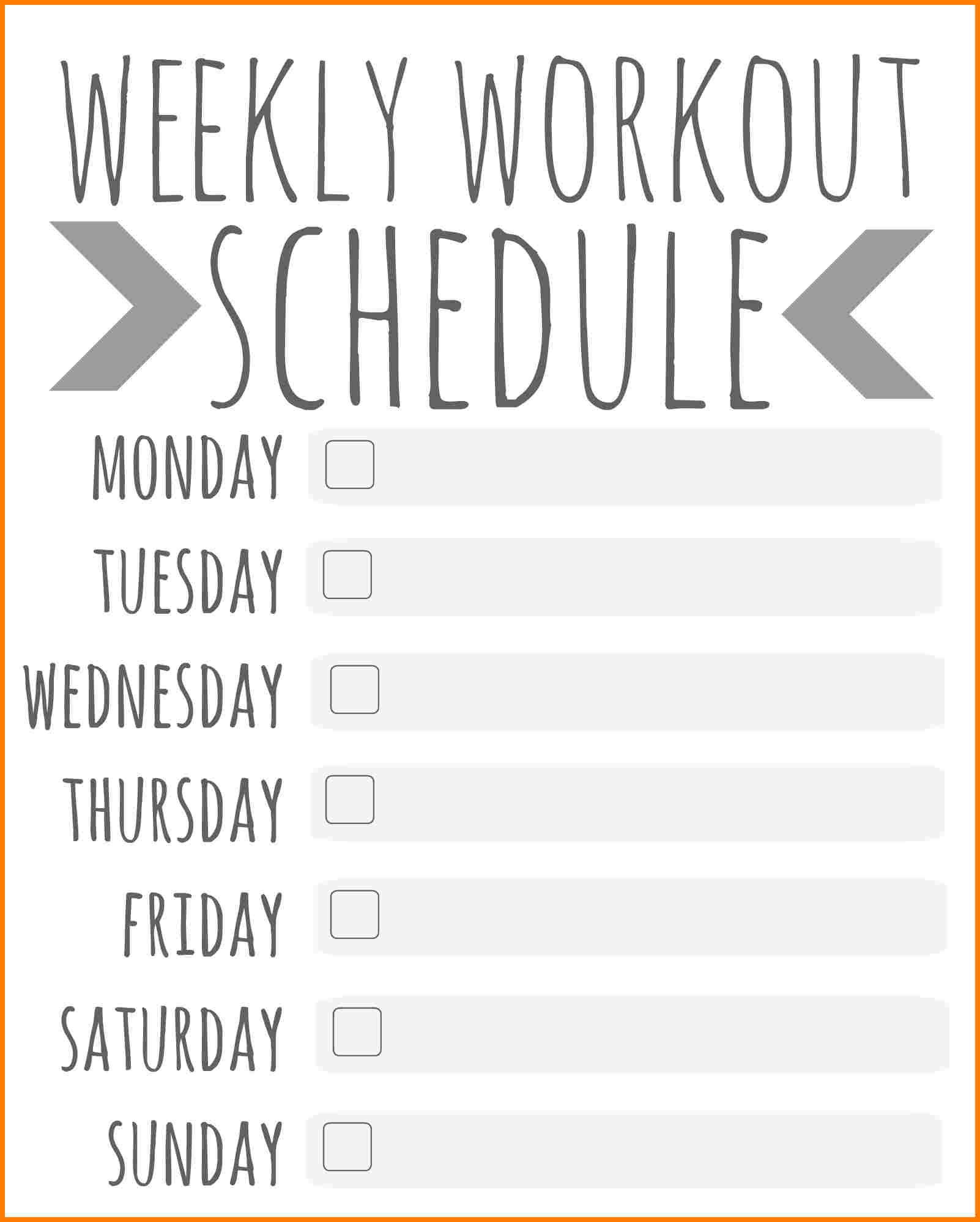 5+ workout schedule | support our revolution