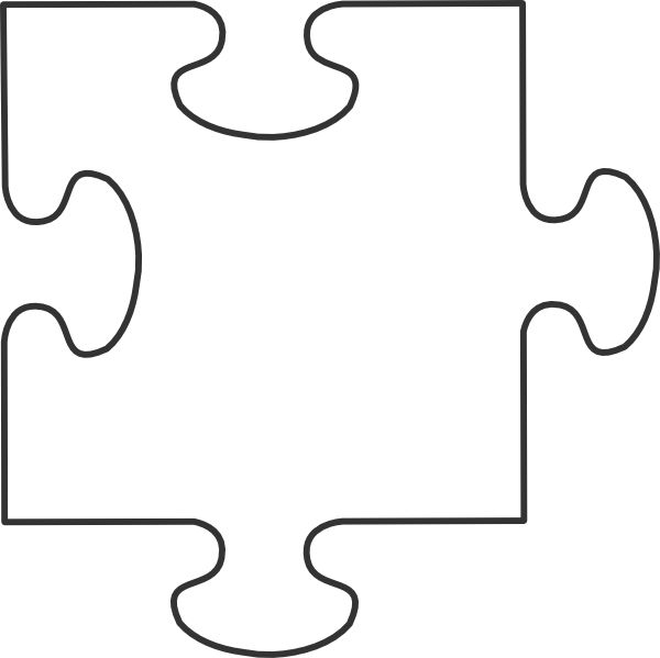 Large Blank Puzzle Pieces | White puzzle piece clip art | Teachery