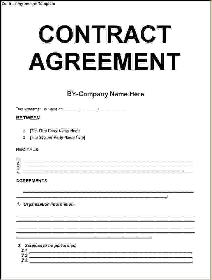 contract template word Kleo.beachfix.co