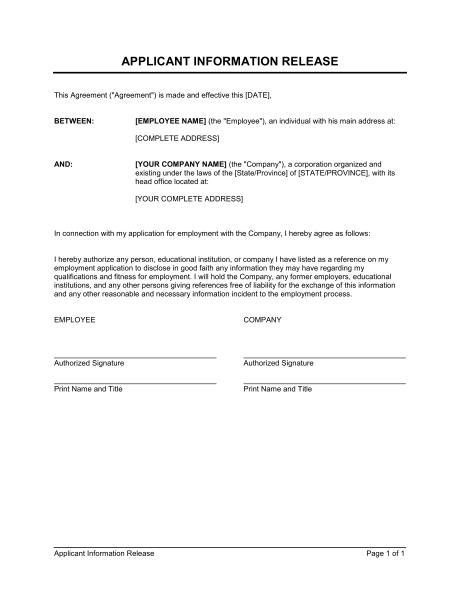 Sample Authorization Release Forms 9+ Free Documents in Word, PDF