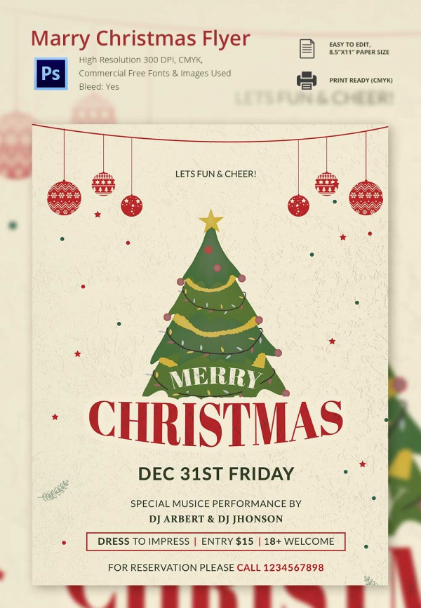 Christmas Flyer Template Word 30 Christmas Flyer Templates Psd