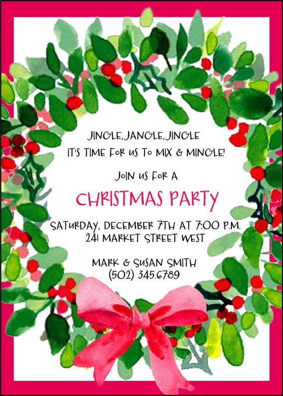 Christmas Party Invitations Beautiful Christmas Eve Dinner Party