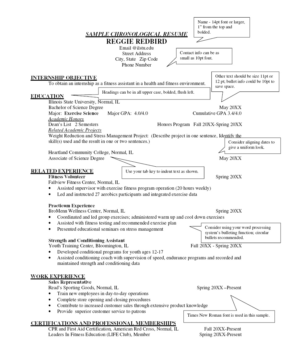 chronological resume examples Kleo.beachfix.co