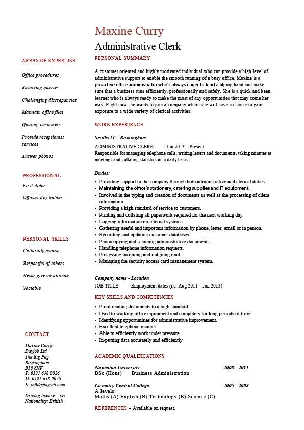 clerical resume template clerical resume template good clerical