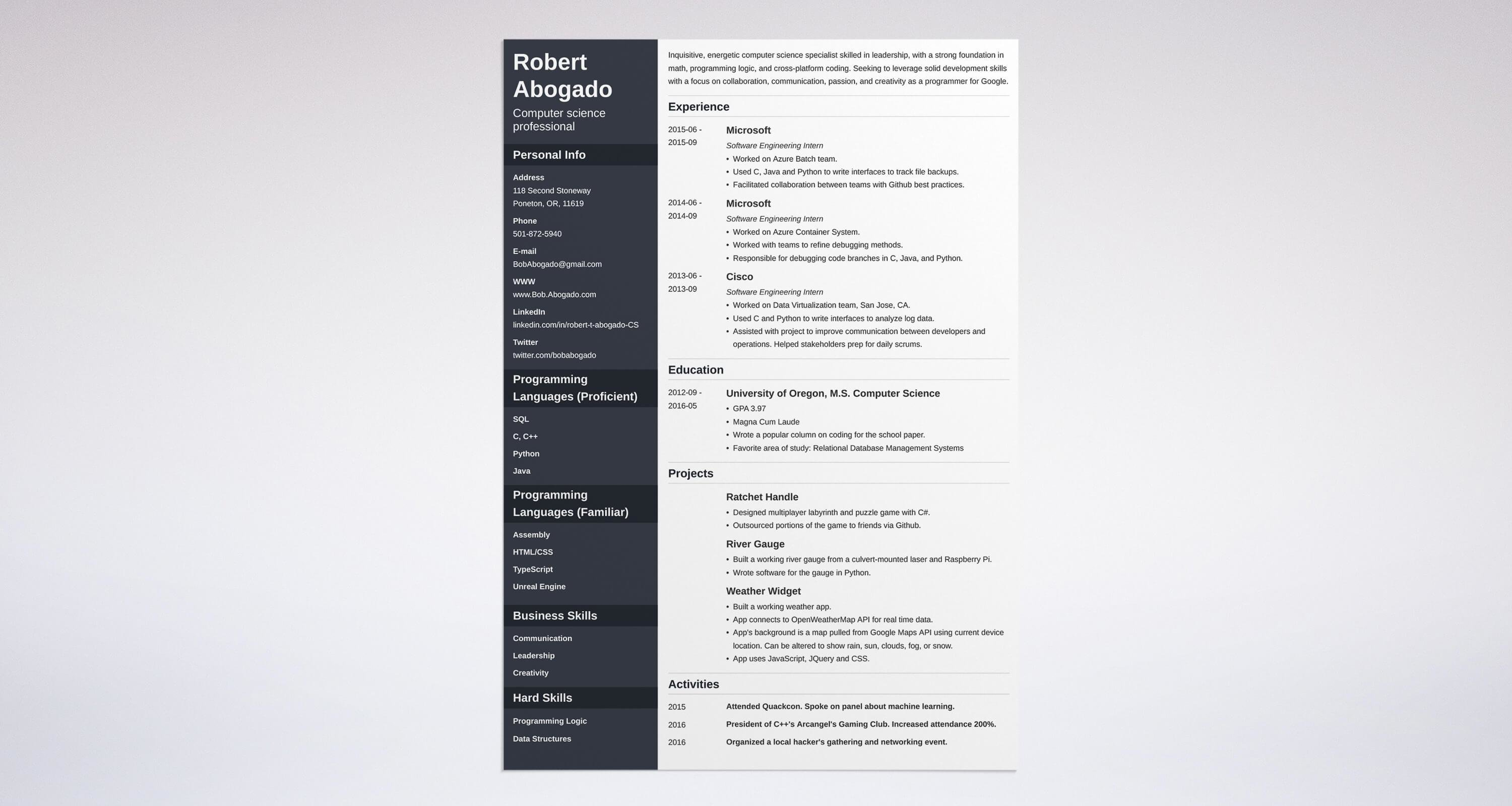 Computer Science Resume: Sample & Complete Guide [+20 Examples]