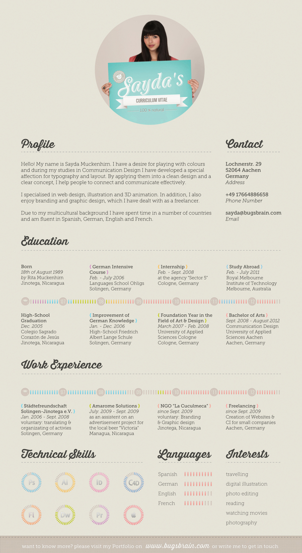 graphic designer resume inspiration Kleo.beachfix.co