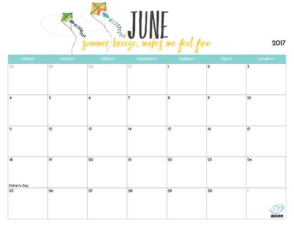 Cute Printable Calendars 2017 Printable Calendar for Moms