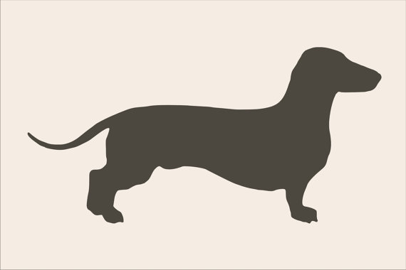 Printable Dachshund Outline Template from PrintableTreats.