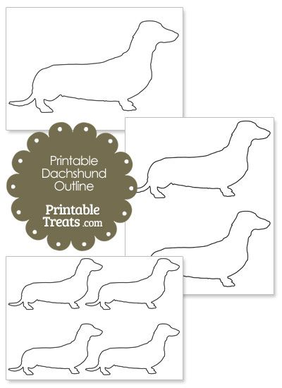 Dachshund pattern. Use the printable outline for crafts, creating