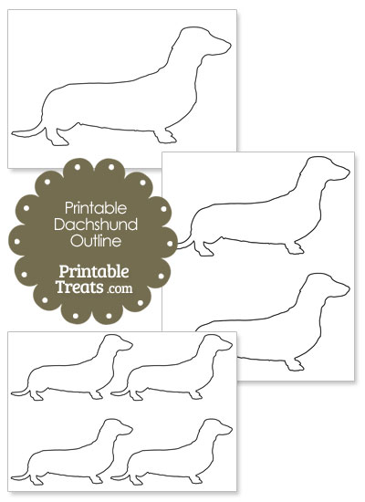 Printable Dachshund Template