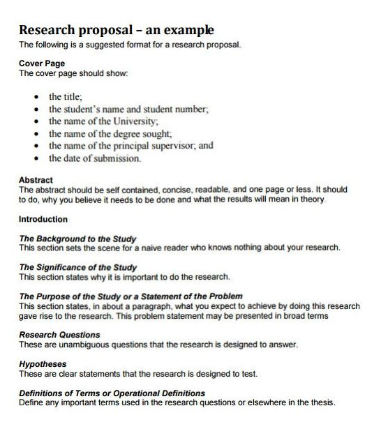 research paper proposal template how to write a research proposal