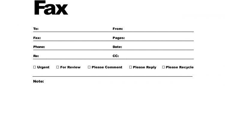 Fax Cover Letter Template Fax Cover Letter Template Fax Cover