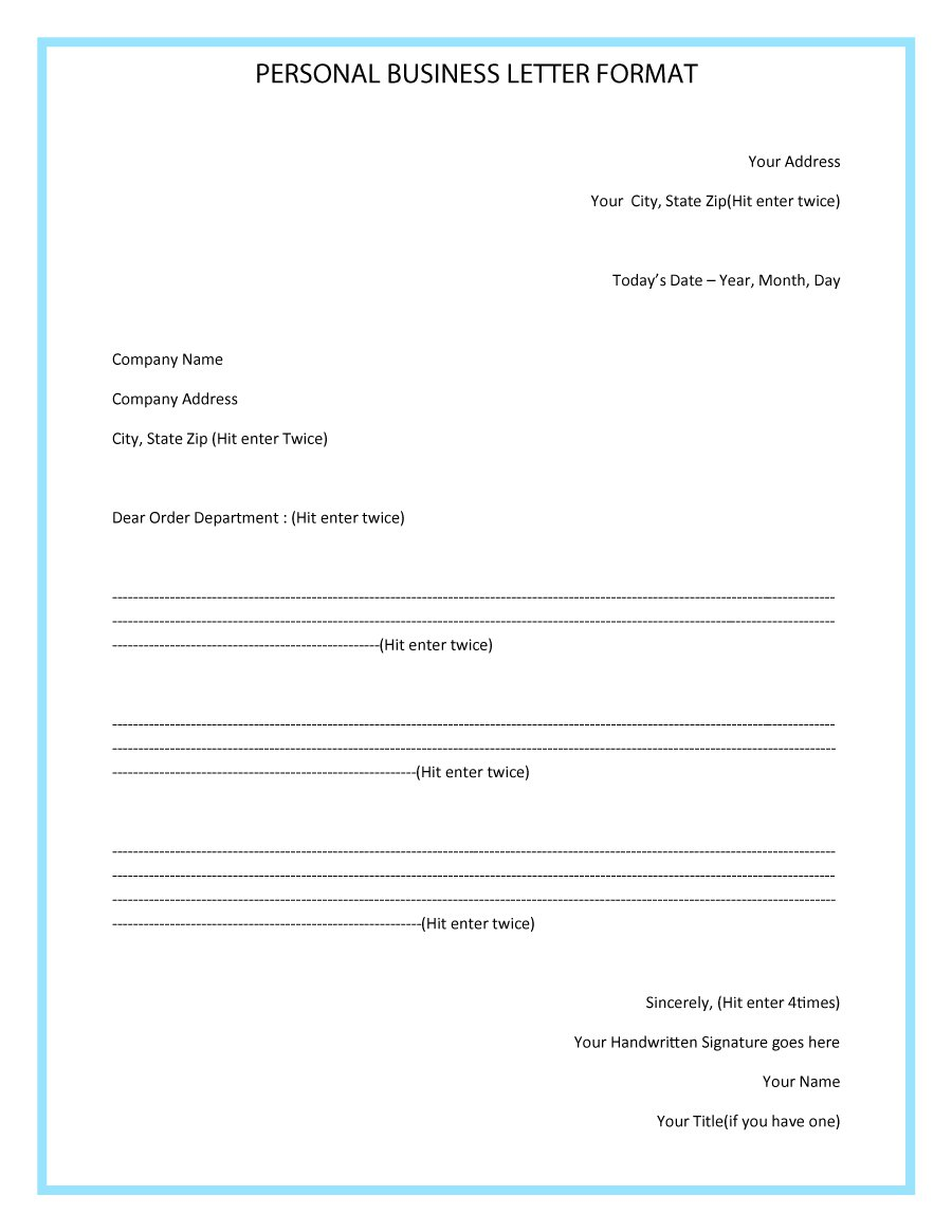 business form letter format Kleo.beachfix.co