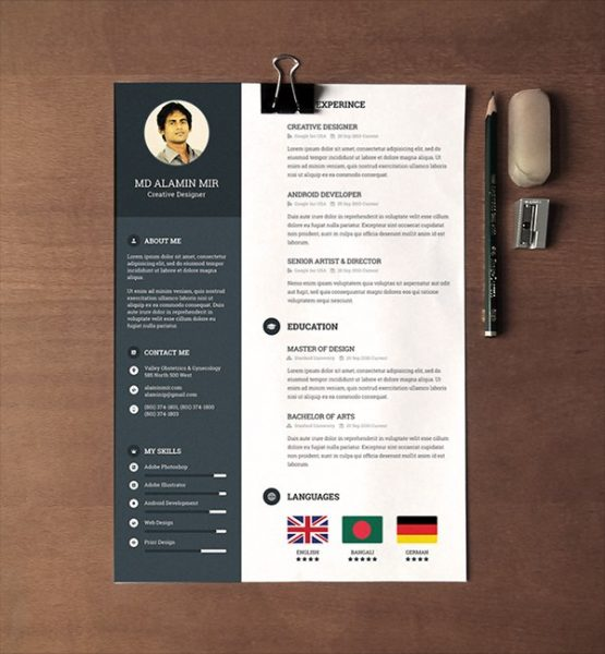 download creative resume templates free creative 28 minimal