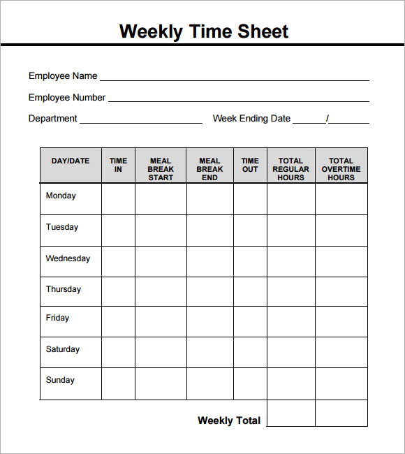 graphic relating to Free Printable Time Sheets Forms called staff season sheet layout -