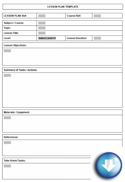 sample lesson plan template pdf free lesson plan template word