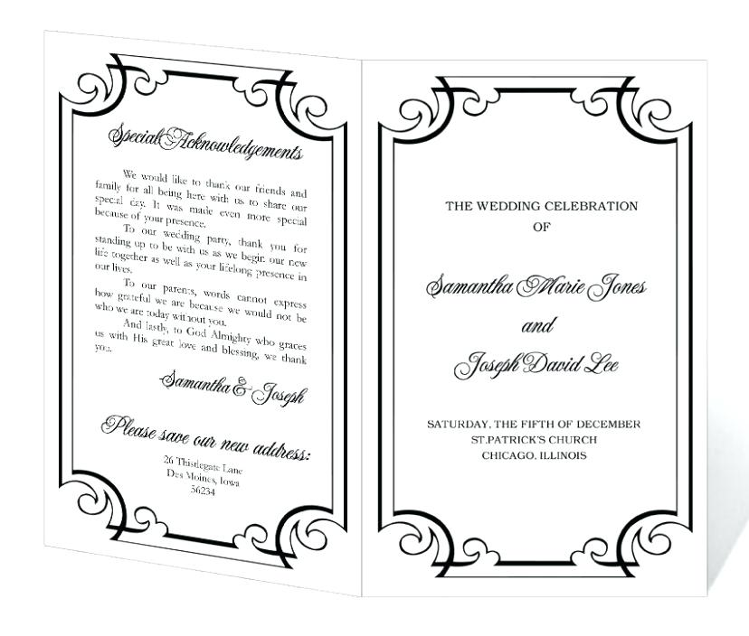 Wedding Program Templates Free | WeddingClipart.| Wedding