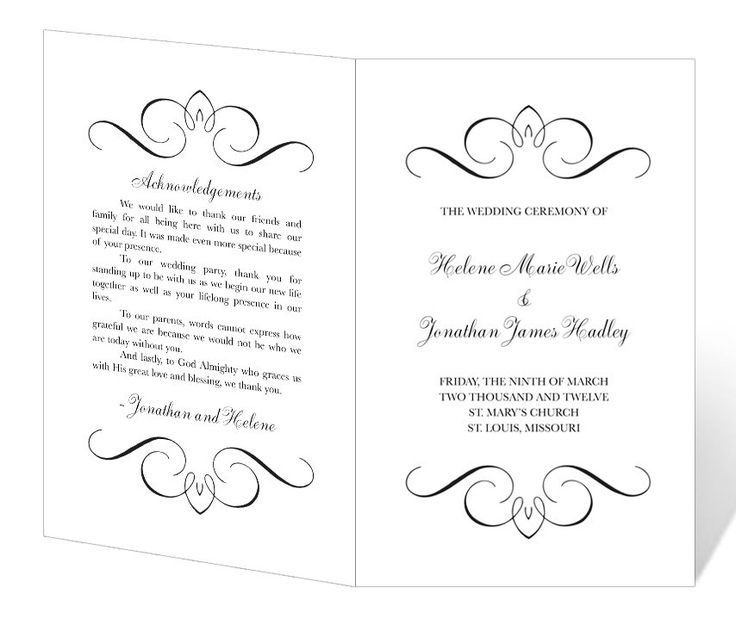 printable wedding programs free Kleo.beachfix.co