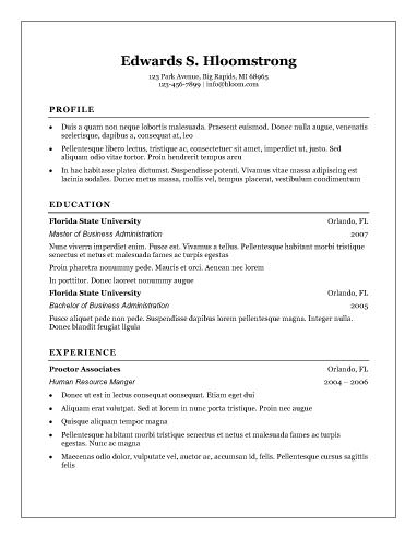 free resume templates word document Kleo.beachfix.co