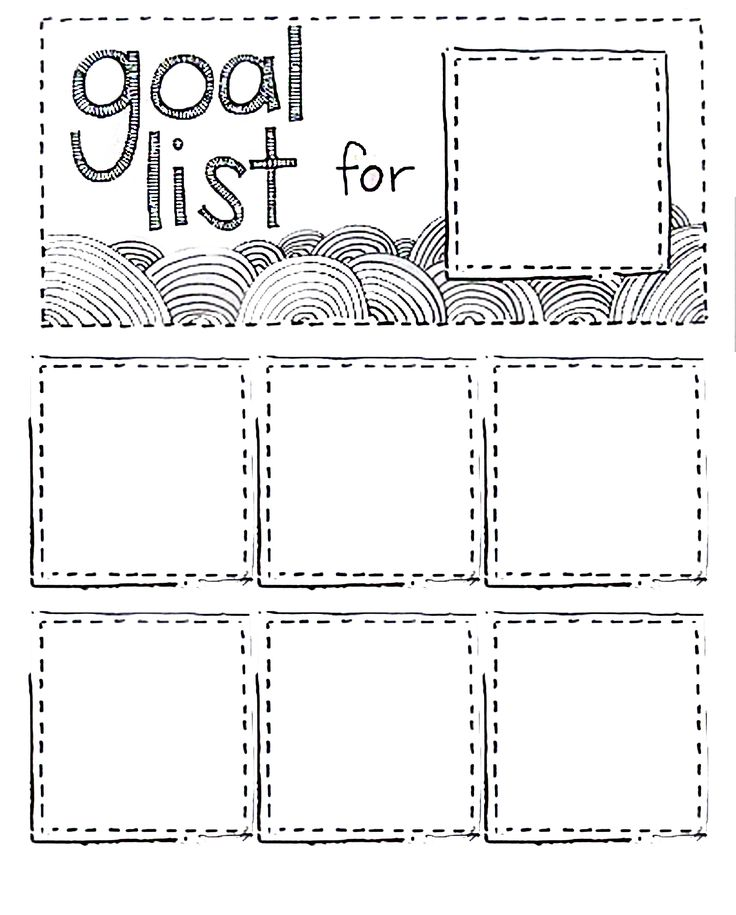 goal list template Kleo.beachfix.co