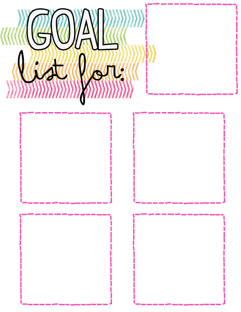 Free Goals List Template