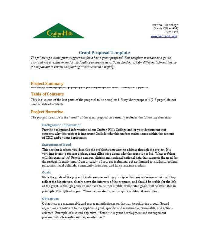 40+ Grant Proposal Templates [NSF, Non Profit, Research