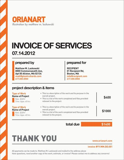 10 Creative Invoice Template Designs | design | Pinterest