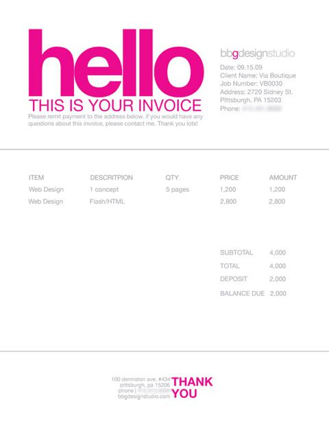 Invoice Like A Pro: Design Examples and Best Practices | Business
