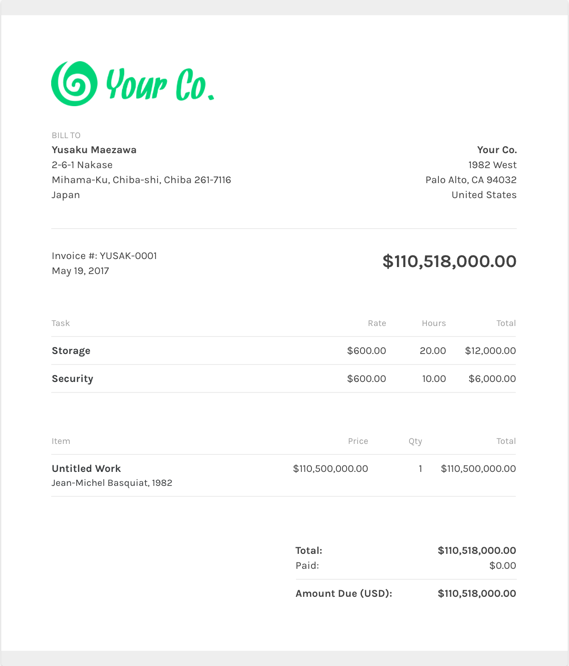 Free Graphic Design Invoice Template | ZipBooks