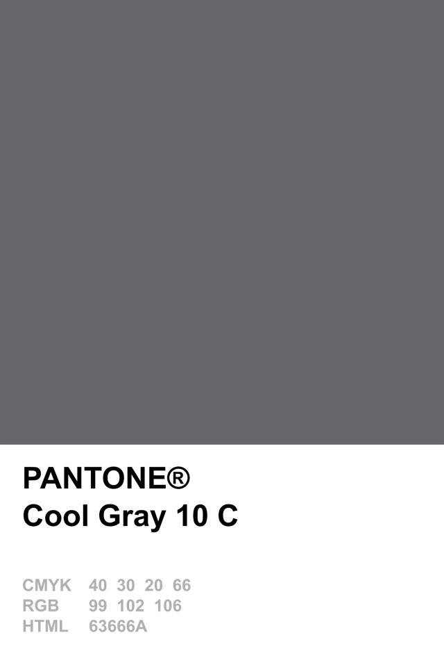 Pantone Cool Gray 10 C | Color Palette | Pinterest | Pantone, Gray