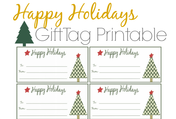 Happy Holidays Gift Tags Free Printable