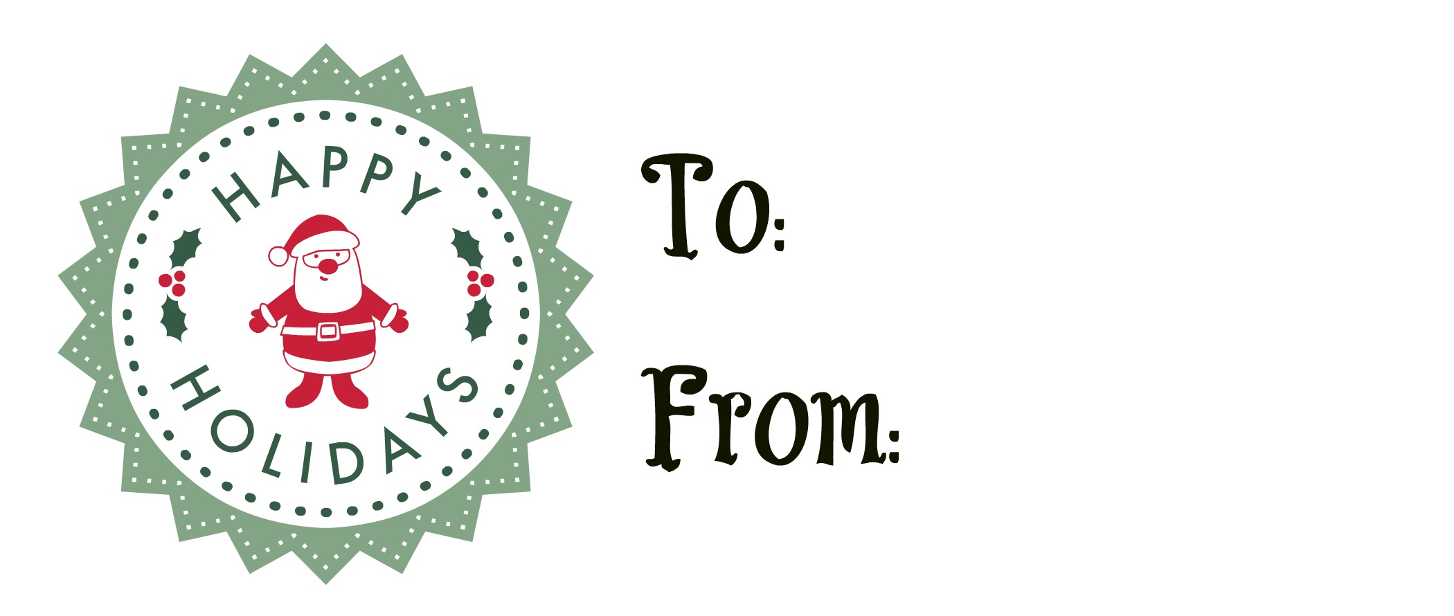 Free Printable Holiday Gift Tags Great for Magazines, Etc