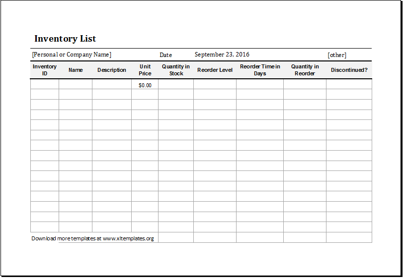 excel inventory list Kleo.beachfix.co
