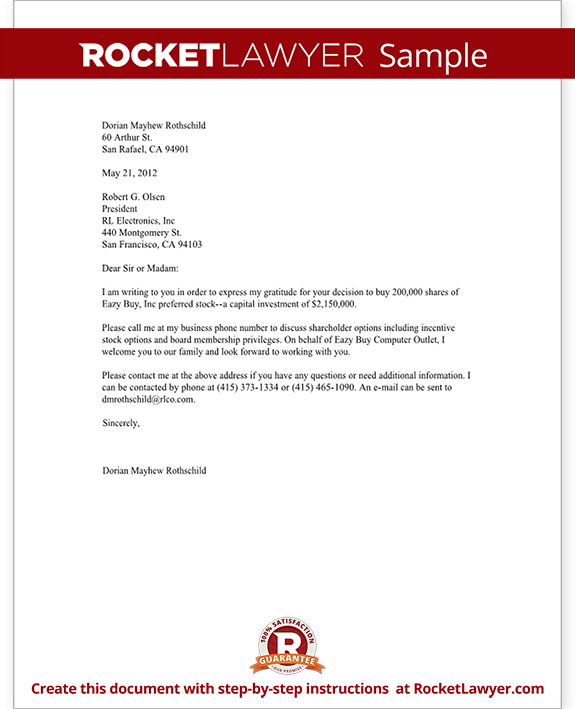 Business Letter Template Free Form Letter with Sample
