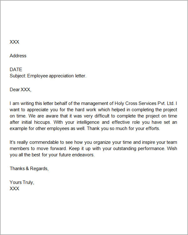 Unique Appreciation Letters Samples | utah staffing companies
