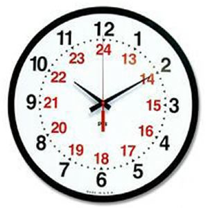 Military Time (24 Hour Time) Conversion Chart Online Alarm Clock