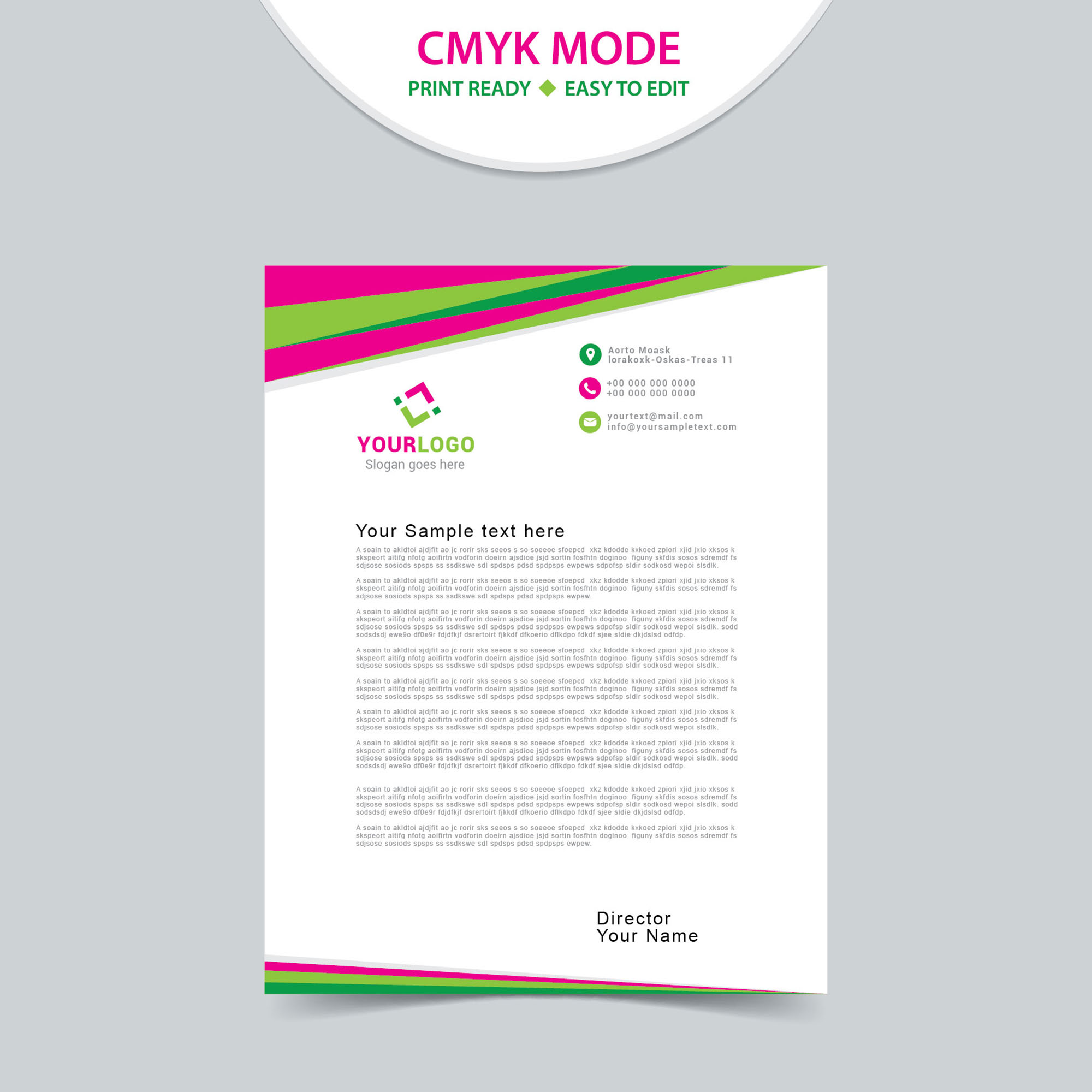 Modern, Upmarket, Industry Letterhead Design for a Company by