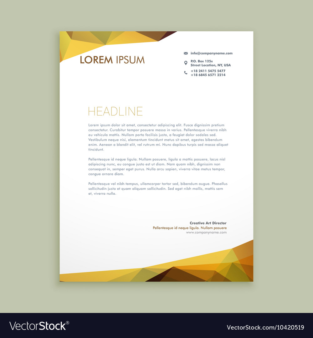 Corporate modern letterhead design Royalty Free Vector Image