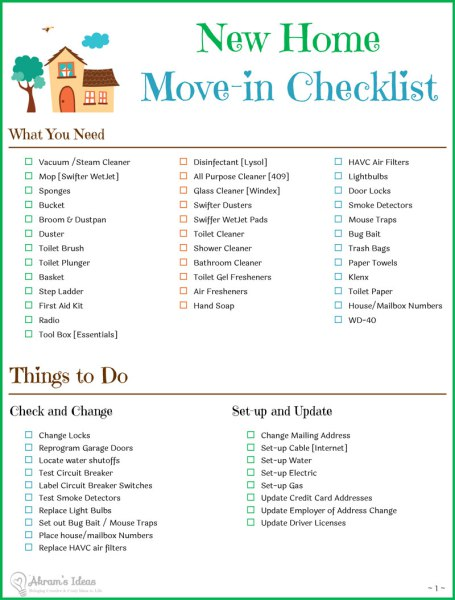 New Home Essentials Decor Make Sure To Use This Checklist When