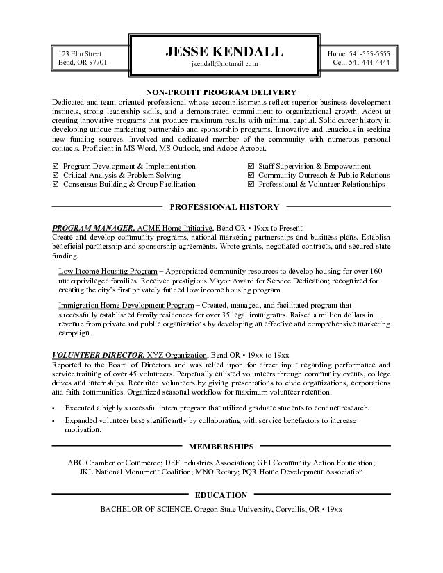 Bunch Ideas Of Resume Examples Templates Non Profit Cover Letter