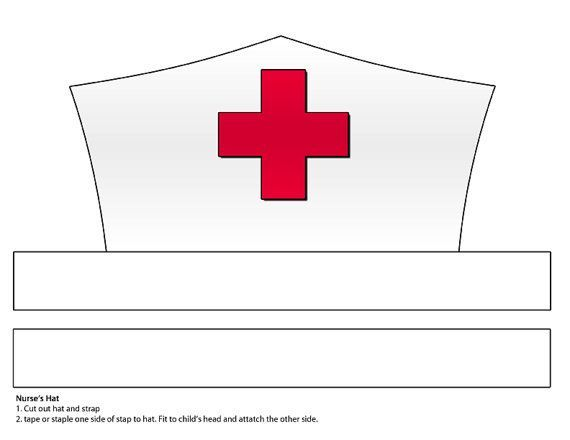 Printable Nurse Hat Template | community helper | Pinterest | Hat