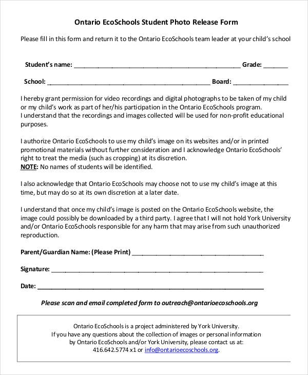 Parent release form expert photoshots parental 20 consent 20 form