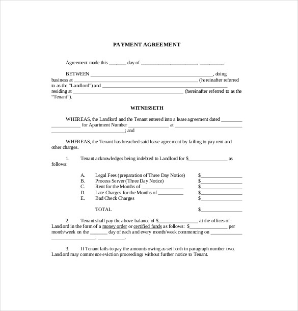 16+ Payment Agreement Templates PDF, DOC | Free & Premium Templates