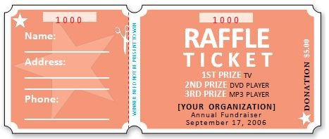 sample raffle tickets printable Kleo.beachfix.co